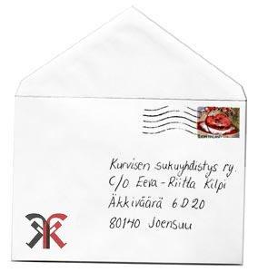 Kurvisen sukuyhdistyksen kirjekuori